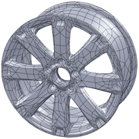 Flächenrückführung NURBS (3D-Scanning)